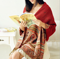 Bufanda de Las Mujeres El Envío Libre! Diseño del Estilo de bohemia Joker Pashmina Bufandas de Invierno Del Todo-Fósforo de Gran Tamaño de La Señora 100% Algodón [gen-067]