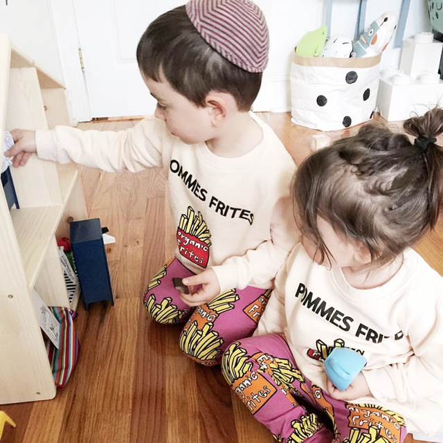 Bobozone o pommes frites camisola crianças meninos de roupas meninas hoodies do bebê