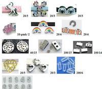Buyer order 8mm slide letters , slide charms number rubber stoppers , pendant