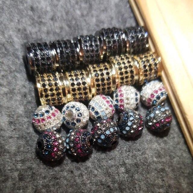 nadeem мода 4 цвета проложить черный и белый cz амулеты из бисера фотография