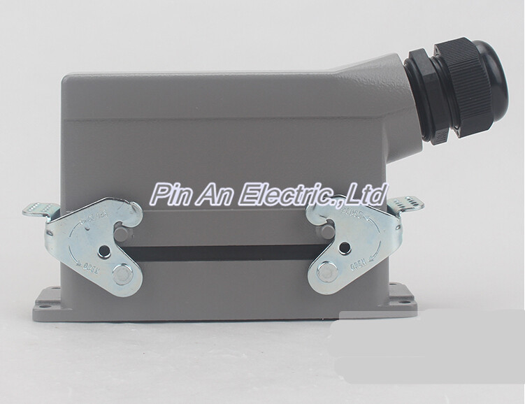 HDC-HE-024 rectangular insert Heavy Duty Connectors 16A 24 core Aviation hot runner connector plug 48pin 16a 400v 500v heavy duty connector 48 core aviation plug mk he 048 1