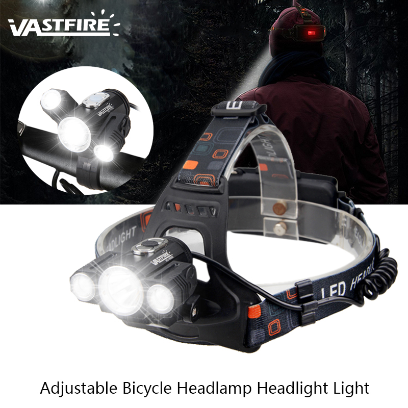 Rechargeable 10000LM 3 X T6+2R5 LED Adjustable Bicycle Bike Headlamp Zoomable Waterproof Headlight Light Head Outdoor Lamp Torch