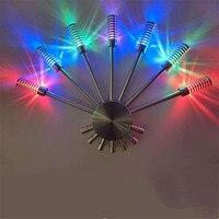Ventilador colorido Luz Da Decoração Da Parede da Sala Night Light Bar Salão KTV Atmosfera Luz AC85-260V 7 w Luz CONDUZIDA Da Parede