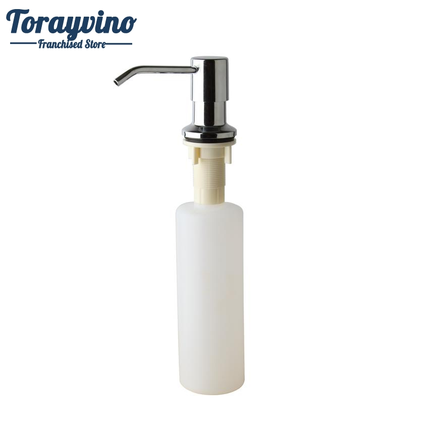 Torayvino Soap Dispenser Kitchen Sink Deck Mounted Soap Dispenser Plastic Chrome Finished Painting Soap Dispenser 5155S