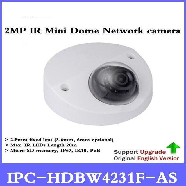 Brand Original IPC-HDBW4231F-AS 2MP IR Mini Dome Network Camera Micro SD Card IP67 IK10 IR20M Built-in Mic,free shipping new lithium ion rechargeable cordless power tools battery for ryobi 18v p108 rb18l40 4000mah 4 0a ryobi one p104 p100 p107