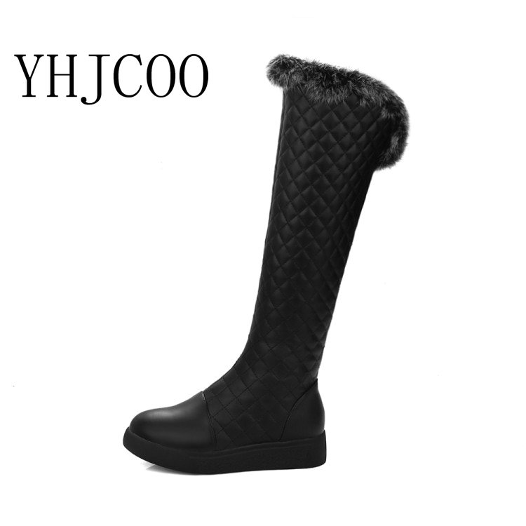 new women keep warm snow boots fashion platform fur thigh knee high boots warm winter boots for women shoes boats ...