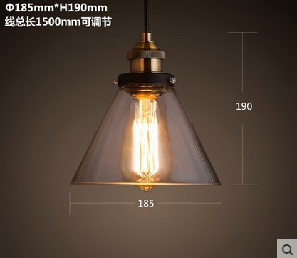 60W Edison Loft Style Industrial Lighting Fixtures Vintage Pendant Lamp with Glass Lampshade Lustres De Sala Teto Pendente powerline адаптер tp link tl pa7020p kit tl pa7020pkit