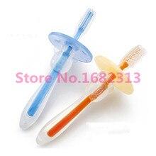 Зубные brush прорезыватель щетки tool младенческой обучение зубная силиконовые новорожденных щетка