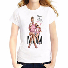 2019 Super Mom T Shirt Women Mothers Love Print White T-shirt Harajuku TShirt Vogue Tops Tee Femme Summer