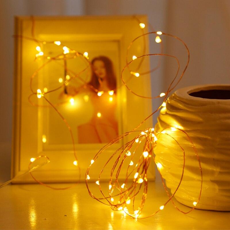 Лучший!  LYFS 2M 20 LED Starry String Lights LED Питание от батареи Прозрачный медный провод Сказочные огни