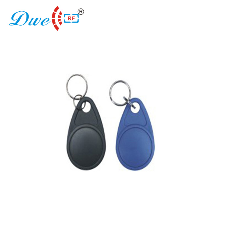 low frequency 125khz rfid id chip token EM4100 chain black blue keyfobs 100 pieces