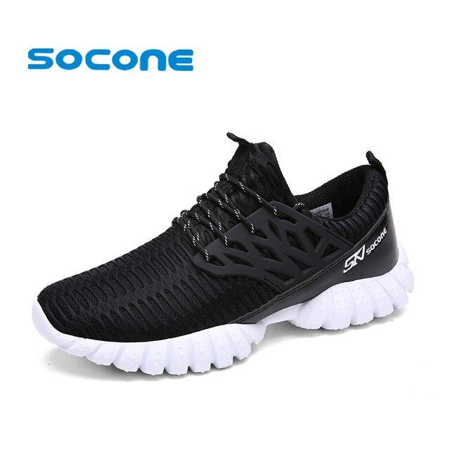 Socone Breathable Running Shoes for Men 2017 Summer Sport Shoes Men Trainers  Comfort Sneakers Men Walking