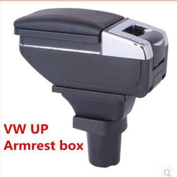 Vw up armrest box 중앙 저장소 내용 상자 제품 내부 팔걸이 보관 자동차 스타일링 액세서리 부품 2009-2018