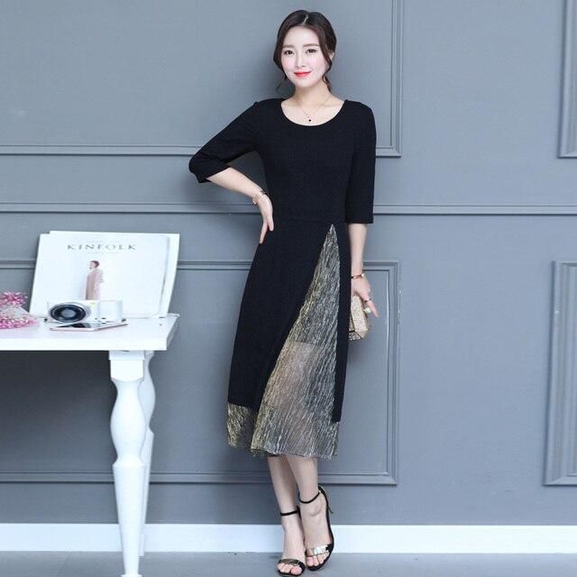 Merek Wanita Panjang Dress Hot Sale 2017 Musim Semi Musim Panas