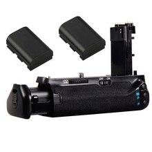 JINTU Pro power Вертикальная Батарейная ручка+ 2 LP-E6 комплект батарей для Canon EOS 7DII 7D2 7D Mark II DSLR камера Замена BG-E16