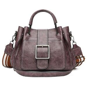 Image 5 - Yeni 2018 kadın askılı çanta Vintage omuzdan askili çanta kadın çanta tasarımcısı yüksek kaliteli PU deri bayan çanta ana kesesi