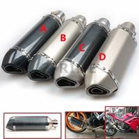 Universal Fiber Motorcycle Exhaust Pipe Muffler Motorbike Exhaust Modified Exhaust Pipe For SUZUKI GSF 600 Bandit