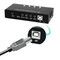 kvm switch USB switch Optical Fiber Sound Card 7.1 Sound Track Audio interface Playback Recording PC Audio Card HI FI Audio Adap