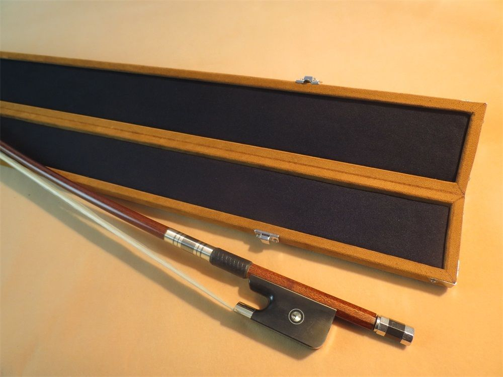 Brown color Beautiful France-style double bass bow case for one piece bass bow
