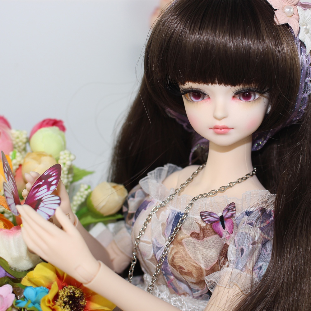 Fortune Days for 1/4 BJD Doll 45cm Highly Cute little floral word shoulder dress Set High Quality Blyth reborn girls Toy Gifts uncle 1 3 1 4 1 6 doll accessories for bjd sd bjd eyelashes for doll 1 pair tx 03