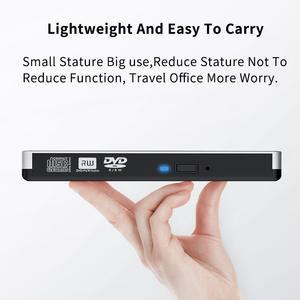 Image 5 - USB3.0 נייד כונן אופטי dvd מקליט חיצוני מחברת שולחן העבודה כונן אופטי כסף לבן חיצוני נייד dvd צורב