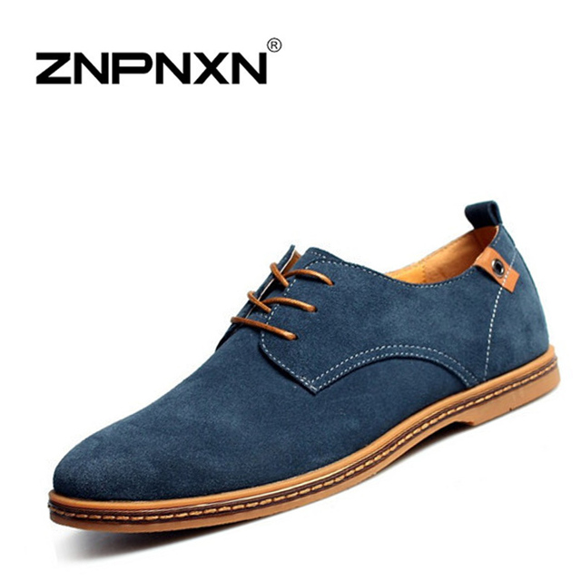 eb907f579 ZNPNXN Men Shoes Casual Genuine Leather Flats Shoes Men Summer Cool Winter  Warm Boots For Men Oxford