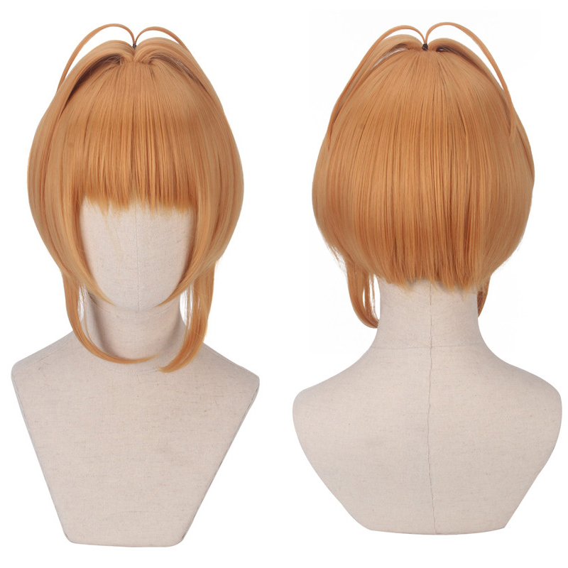 Biamoxer KINOMOTO SAKURA Cosplay Wig 2018 Card Captor Sakura CLEAR CARD Short Straight Anime Synthetic Hair