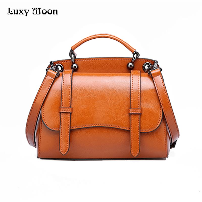 Luxy Moon Genuine Leather Women's Handbag Large High Quality Tote Bag Slid Top-Handle Female Messenger Bag Shoulder Bag ZD684 luxy moon genuine leather women s handbag real leather large tote bag slid top handle female messenger bag shoulder bag zd678