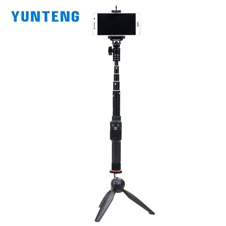 YUNTENG 2288 + 228 Extendable Selfie Monopod With Bluetooth Remote Selfie stick mini tripod phone clip