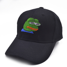 Sad Kermit Tea Cap Frog Pepe Feels Bad Man Embroidery Sun-shade Snapback Hip Hop Baseball The Meme Hat