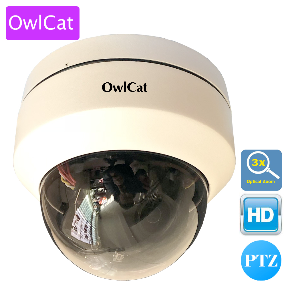 OwlCat Mini Security CCTV PTZ Dome IP Camera 3X OpticaL Zoom Auto Foucs Video Surveillance Network Camera Outdoor IR ONVIF high quality laser ir 500m ip ptz camera onvif 4 6 165 6mm lens 36x optical zoom for harsh environment security surveillance