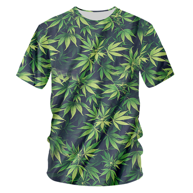 Green Leaves Printed T-shirt