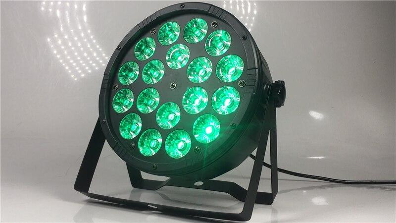 Image 3 - Большие линзы 18X12 Вт led par огни RGBW 4в1 плоский par dmx512 профессиональное DJ оборудование-in Эффект освещения сцены from Лампы и освещение