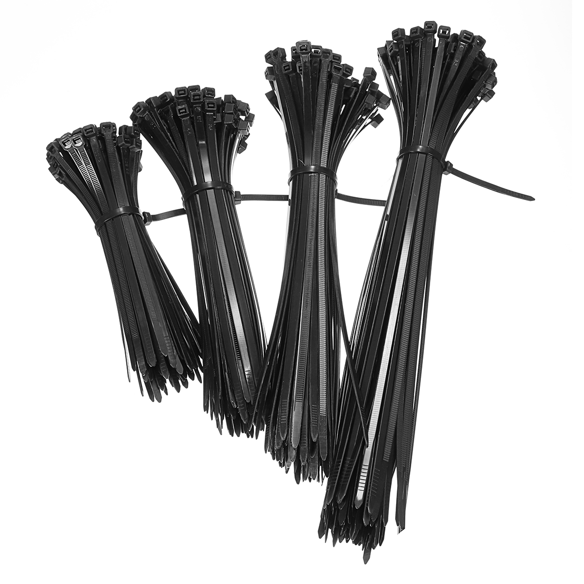 100pcs Black Nylon Plastic Network Cable Zip Tie Cord Strap Self-Locing Wire 150/200/250/300mm Zip Trim Wrap Cable Loop Tie 100pcs lot 100mm x 3mm self locking network nylon plastic cable wire zip tie cord strap