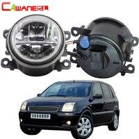 Cawanerl Car H11 4000LM LED Bulb Front Fog Light + Angel Eye DRL Daytime Running Light 12V For Ford Fusion Estate JU 2002 2008