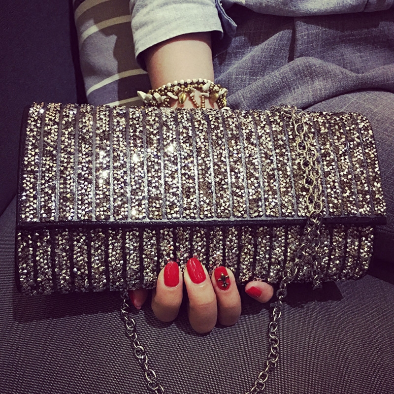 Luxury Designer Handbag For Women Sparkling Diamond Ladies Evening Bags Chains Formal Clutches Purse Mini Shoulder Bag