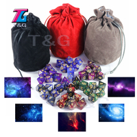 Shine Bright like Universe Galaxy Dice 6 sets 7 Pieces Delicate Portable Dice Table Board Game Man Gift Christmas gift