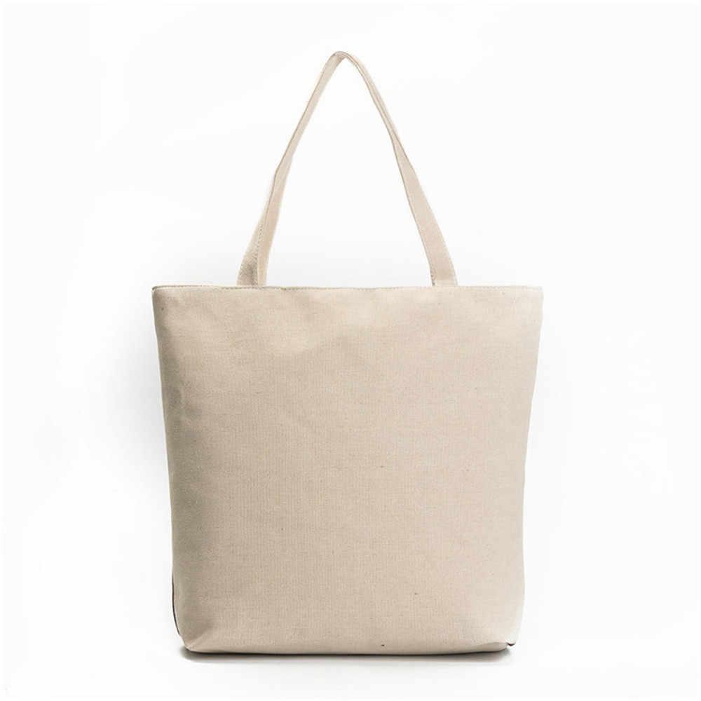 Модная женская новая модная милая сумочка с принтом совы Женская Холщовая Сумка на плечо женская книга большая сумка для покупок