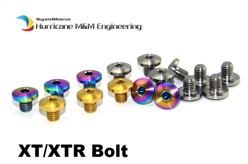 6 pcs M5 Ti Bolt for XT/XTR M800 Oil Brake Titanium Cover Bolt Gold and Multiple Color for Road and MTB Bike Grade 5 Ti fastener titanium tc4 armor oil lighter case shell cover custom chocolate surface 1 8mm thick ti material customized mark available