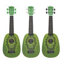 21 Inch 12 Fret 4 String Basswood Ukulele Electric Acoustic Mini Hawaii Guitar Kiwifruit Ukulele for Musical Instrument Lover