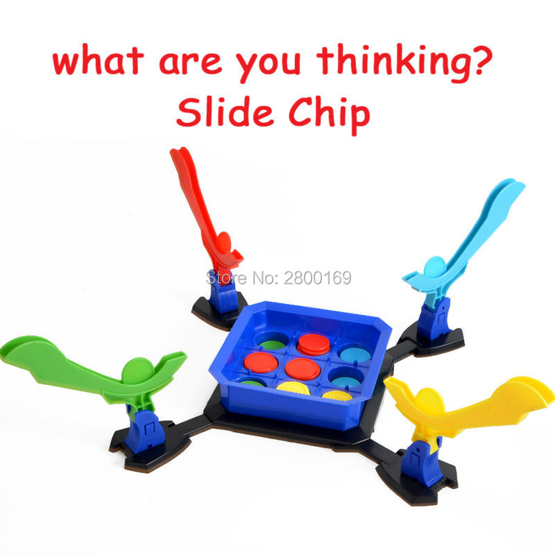 What are you thinking? Fun Slide Chip Shooting Board Games Educational Novelty Gag Toys Family Game Dinner Party for Children