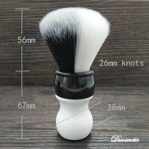 Image 3 - Dscosmetic 26mm new YIN/YANG soft and good backbone synthetic hair shaving brush for man shaving
