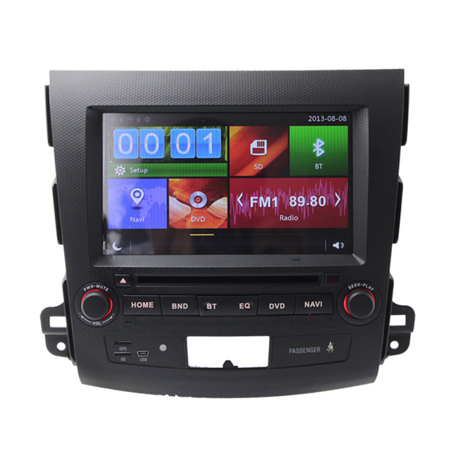 Wince6.0 Stering Wheel Control Car DVD Player For Mitsubishi Outlander GPS Navigation Bluetooth Can Bus RDS HD Touch Screen FM