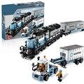 Lepin 21006 Maersk Tren Técnica Creadores Tren Ladrillos de Construcción Bloques Juguetes Regalo de año Nuevo para Los Niños Boy ecudational 10219