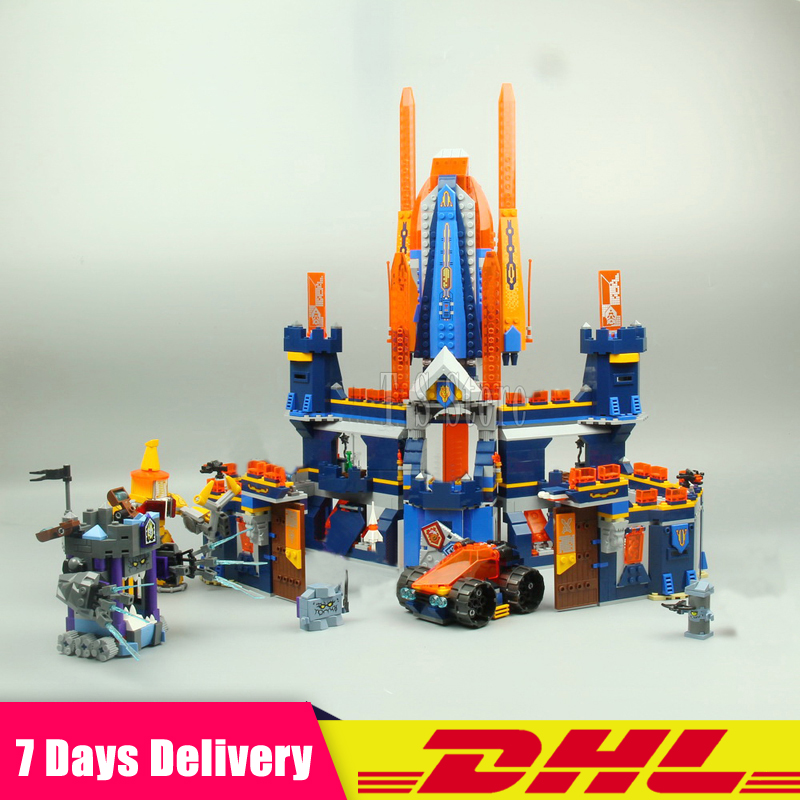 IN Stock DHL LEPIN 14037  1295Pcs King Castle Nexus Knights Building Blocks Bricks Figures Set Diy Gift Toys Fit for 70357 lepin 14004 knights beast master chaos chariot building bricks blocks set kids toys compatible 70314 nexus knights 334pcs set