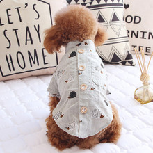 Pet Dog Clothes Spring And Summer Clothes Puppy Clothing Print Shirt Vest Breathable Simple Anti-mosquito Clothing Skirt For Dog