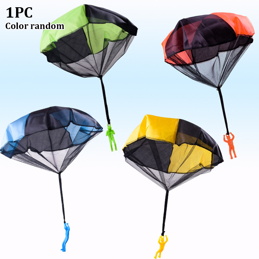 Outdoor Kids Funny Imitate Play Soldier Hand Throwing Sports Mini Gift Game Parachute Toy Children Educational