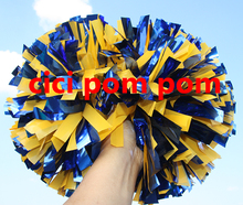 2 pom pom cheerleader pom pom plasti red ,plastic yellow 1,000*3/4″ wide streamers 6″ sizes