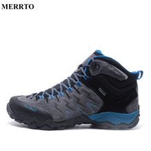Merrto Outdoor Genuine Leather Military Assault Tactical Boots Breathable Anti-Slip Men Fishing Travel Hiking Shoes