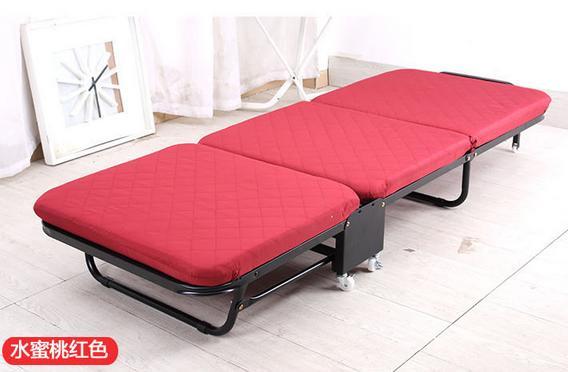 Раскладная кровать, дополнительная кровать для отеля - Цвет: red W65cm